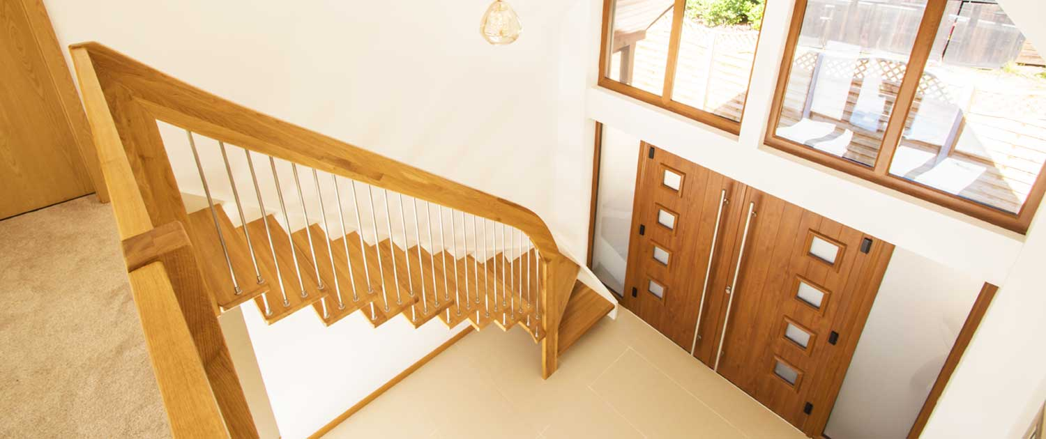 floating stair wooden