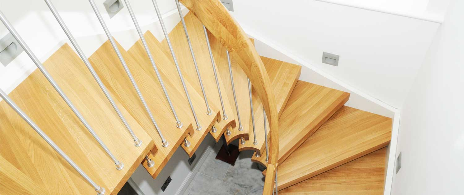 floating stair timber