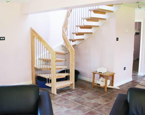 Open Beech Staircase