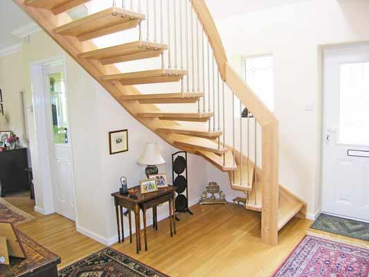 beech Quarter turn Staircase