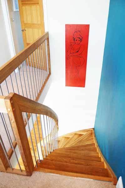 Oak Quarter Turn Staircase