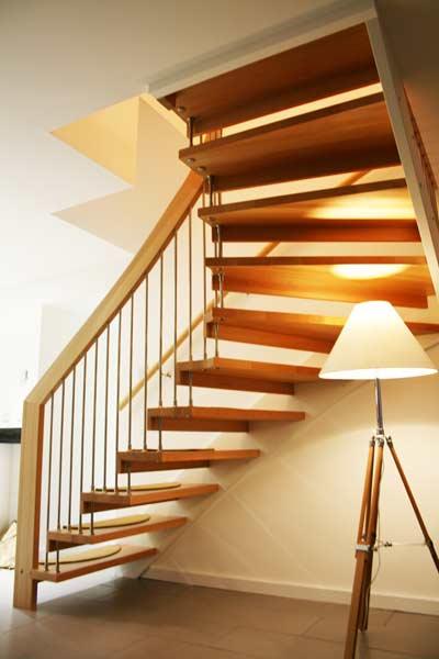 Open Oak Stair