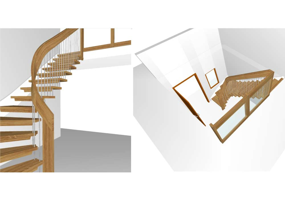 Quarter-Turn-Staircase-3-D-Drawings