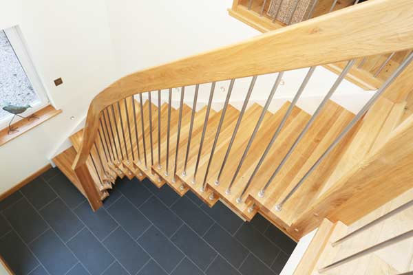 Swooping Open Stair