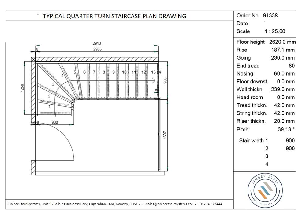 Quarter-Turn-Staircase-Drawing