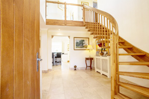 Quarter Turn Oak Stair with Oak Spindles
