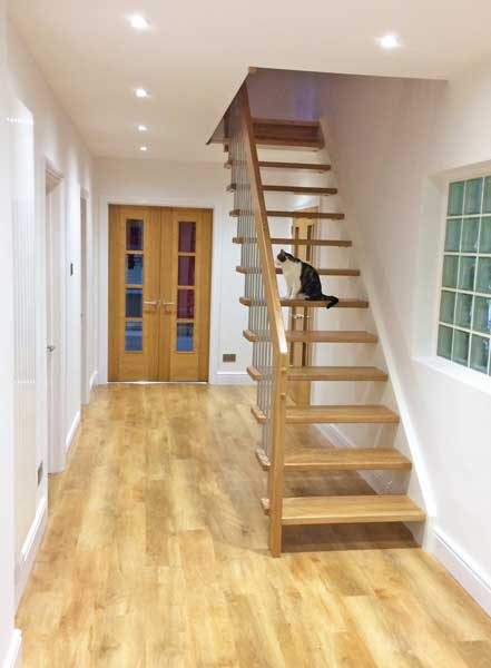 Straight Flight Oak Staircase
