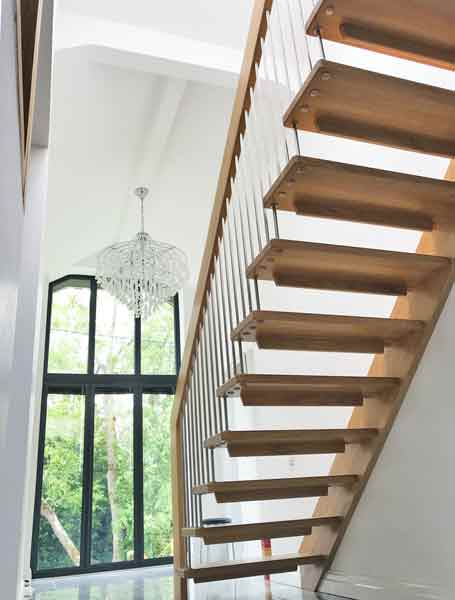 Oak Straight Flight Stair