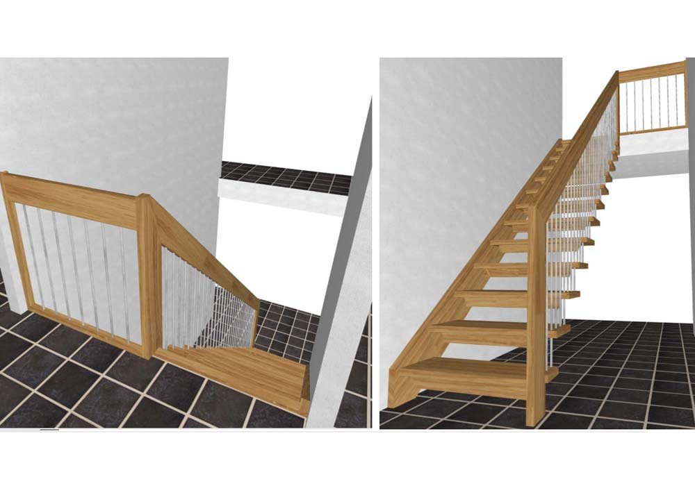 Straight-Flight-Staircase-3-D-drawings