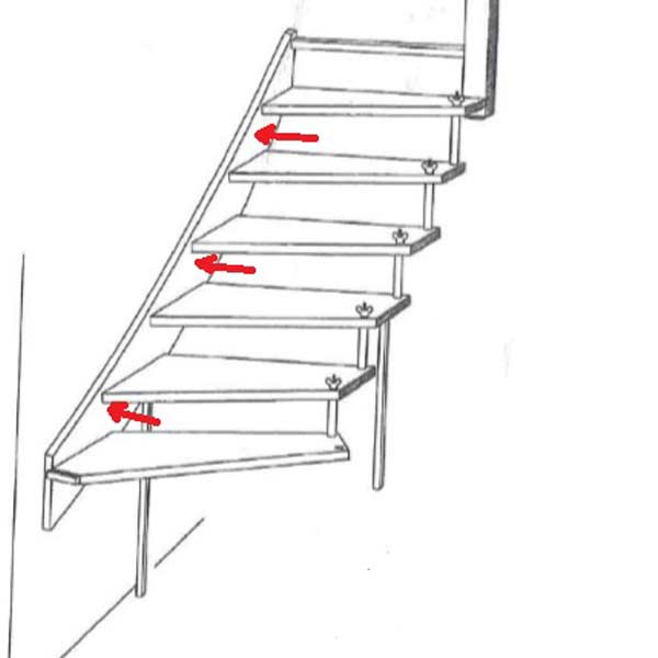 Staircase Design - Wall Fixings