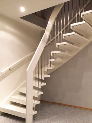 White Timber Staircase